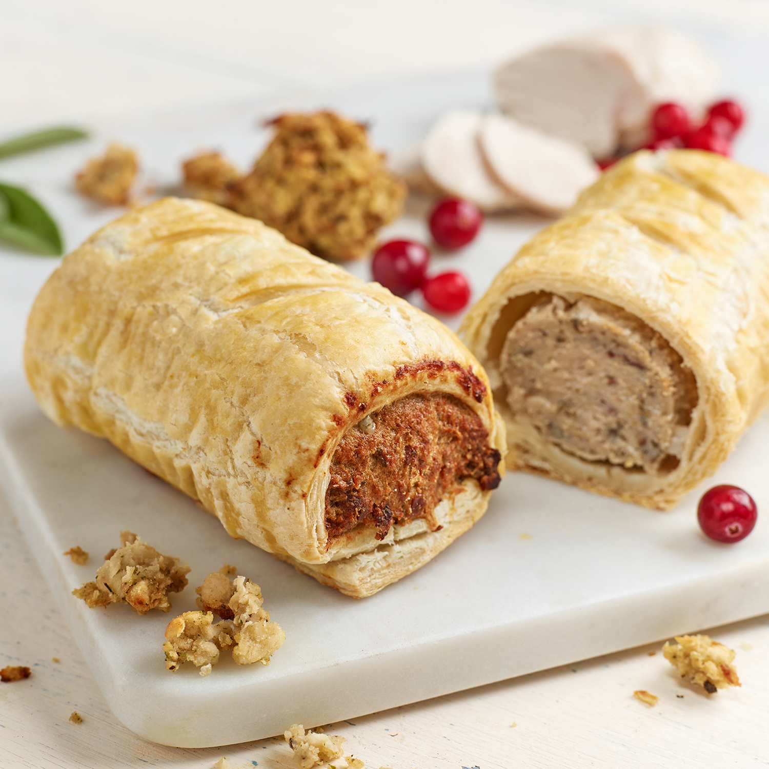 Pork, Chicken, Stuffing & Cranberry
