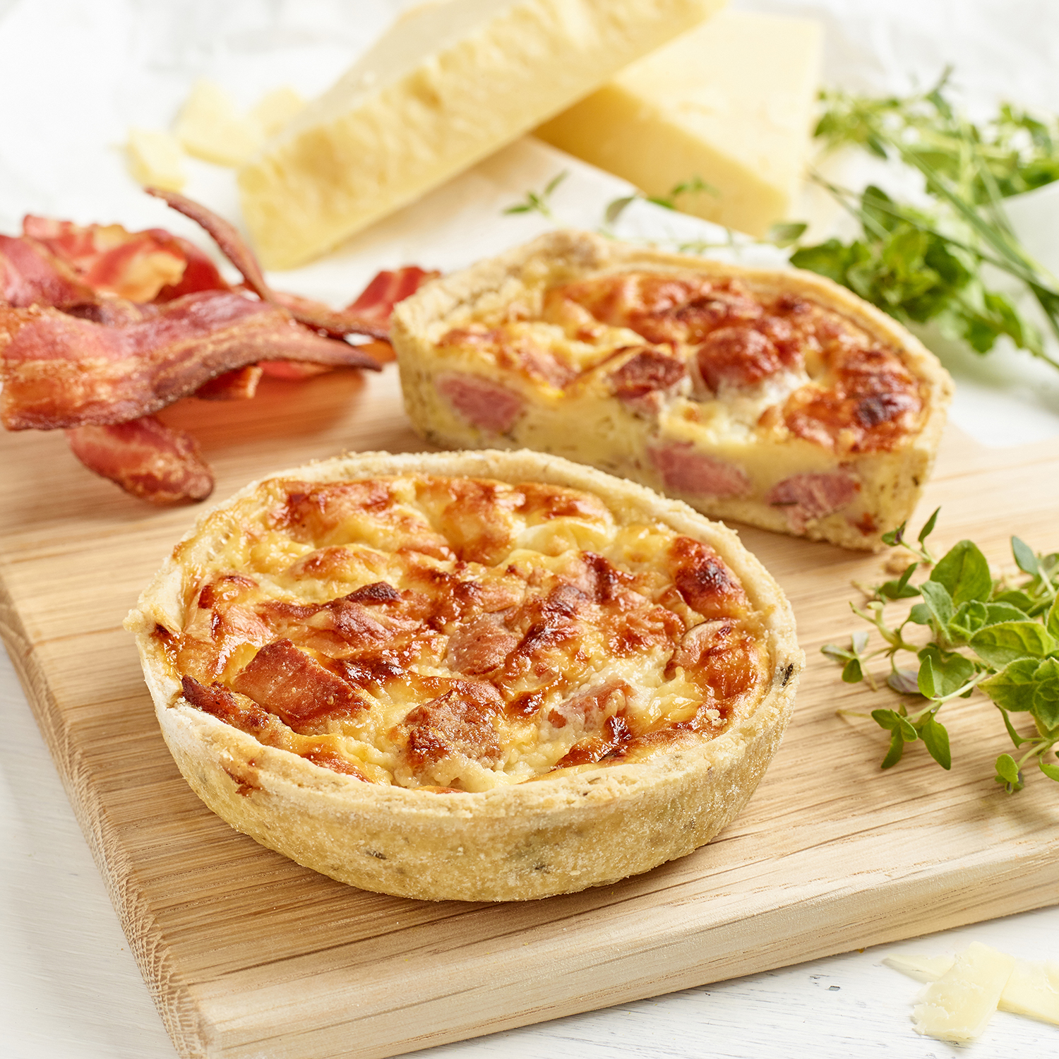Maynard's Bacon & Mature Cheddar Quiche in a Herb Crust